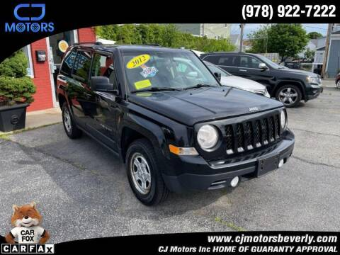 2012 Jeep Patriot for sale at CJ Motors Inc. in Beverly MA
