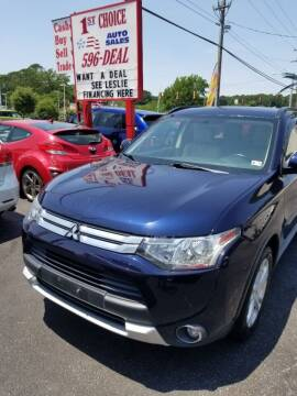 2015 Mitsubishi Outlander for sale at 1st Choice Auto Sales in Newport News VA