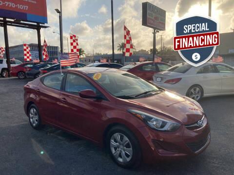 2016 Hyundai Elantra for sale at MACHADO AUTO SALES in Miami FL