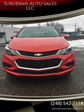 2017 Chevrolet Cruze for sale at Suburban Auto Sales LLC in Madison Heights MI