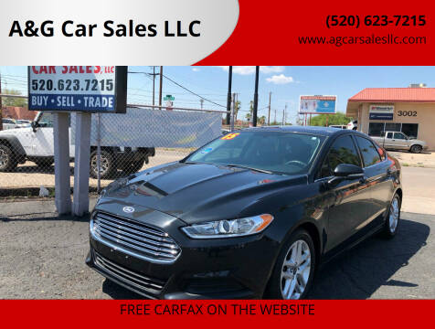 2015 Ford Fusion for sale at A&G Car Sales  LLC in Tucson AZ