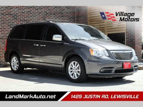 2016 Chrysler Town and Country for sale at Village Motors in Lewisville TX