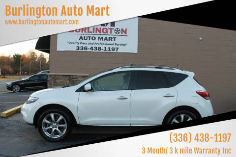 2013 Nissan Murano for sale at Burlington Auto Mart in Burlington NC