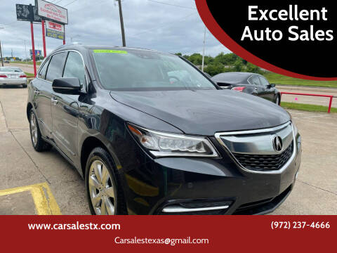 2016 Acura MDX for sale at Excellent Auto Sales in Grand Prairie TX