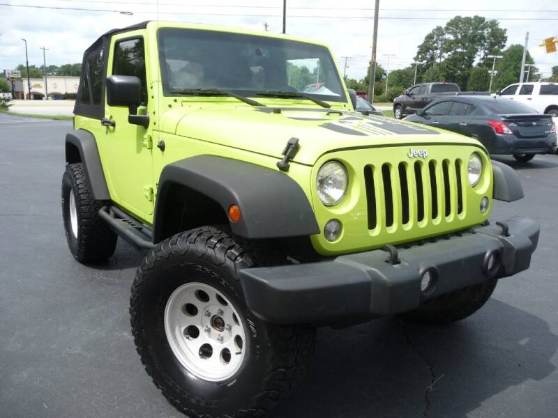 2016 Jeep Wrangler for sale at Wade Hampton Auto Mart in Greer SC