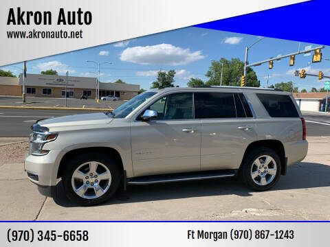 2015 Chevrolet Tahoe for sale at Akron Auto - Fort Morgan in Fort Morgan CO