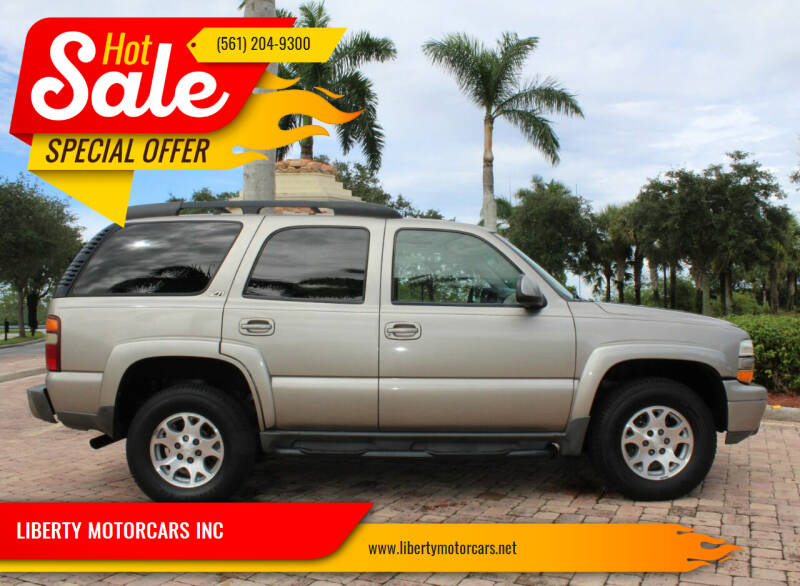 2002 Chevrolet Tahoe for sale at LIBERTY MOTORCARS INC in Royal Palm Beach FL