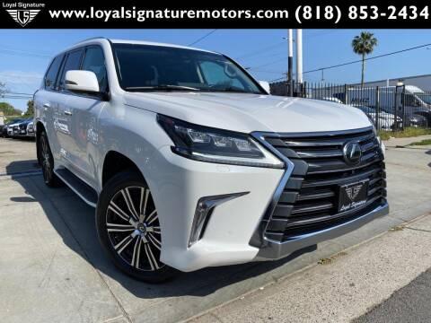 2018 Lexus LX 570 for sale at Loyal Signature Motors Inc. in Van Nuys CA