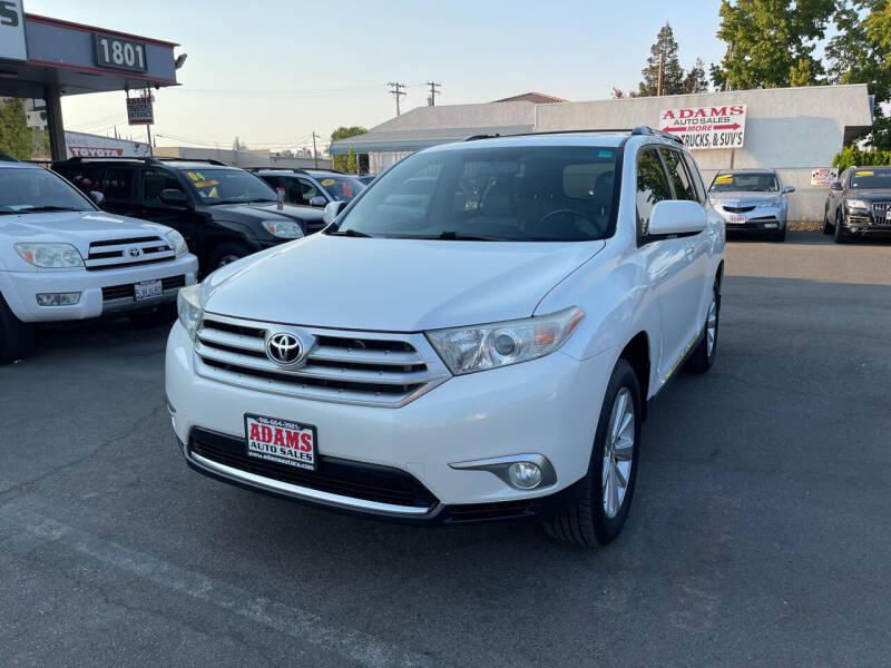 2012 Toyota Highlander for sale at Adams Auto Sales in Sacramento CA