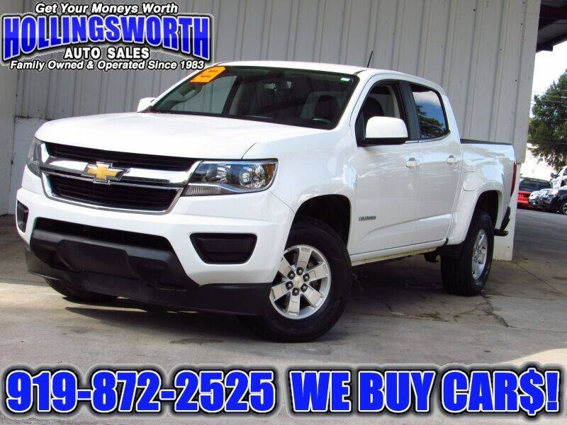 2015 Chevrolet Colorado for sale at Hollingsworth Auto Sales in Raleigh NC
