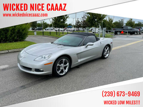 2005 Chevrolet Corvette for sale at WICKED NICE CAAAZ in Cape Coral FL