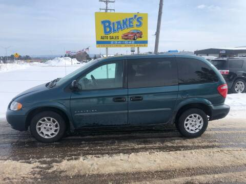 2001 Chrysler Voyager for sale at Blakes Auto Sales in Rice Lake WI