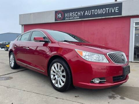 2013 Buick LaCrosse for sale at Hirschy Automotive in Fort Wayne IN
