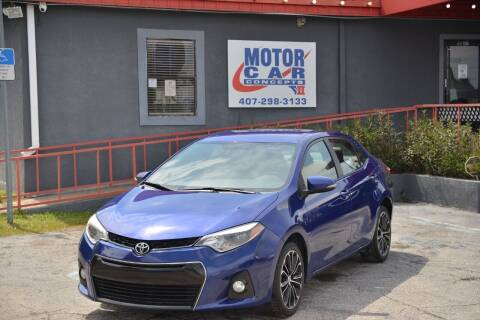 2016 Toyota Corolla for sale at Motor Car Concepts II - Kirkman Location in Orlando FL