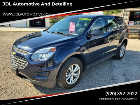 2017 Chevrolet Equinox for sale at JDL Automotive and Detailing in Plymouth WI