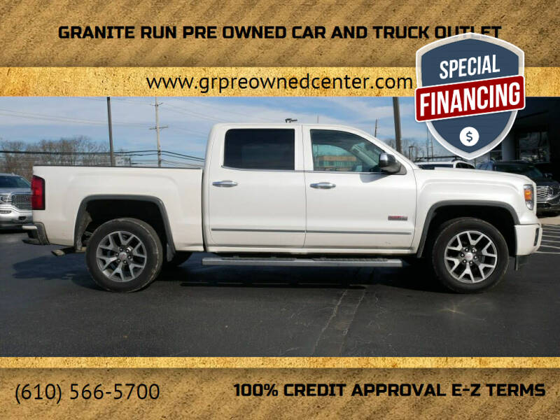 2015 GMC Sierra 1500 for sale at GRANITE RUN PRE OWNED CAR AND TRUCK OUTLET in Media PA