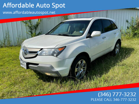 2009 Acura MDX for sale at Affordable Auto Spot in Houston TX