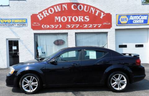 2012 Dodge Avenger for sale at Brown County Motors in Russellville OH