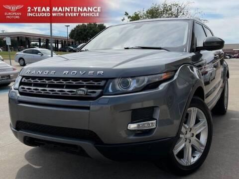 2015 Land Rover Range Rover Evoque for sale at European Motors Inc in Plano TX