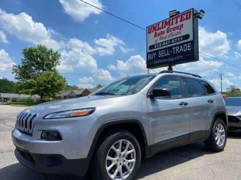 2016 Jeep Cherokee for sale at Unlimited Auto Group in West Chester OH