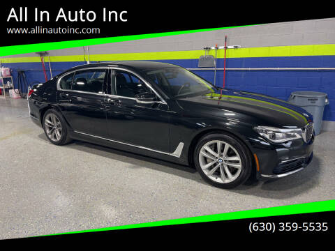 2016 BMW 7 Series for sale at All In Auto Inc in Addison IL