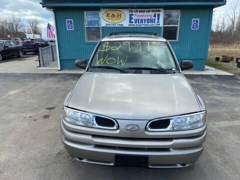 2002 Oldsmobile Bravada for sale at E & H Auto Sales in South Haven MI