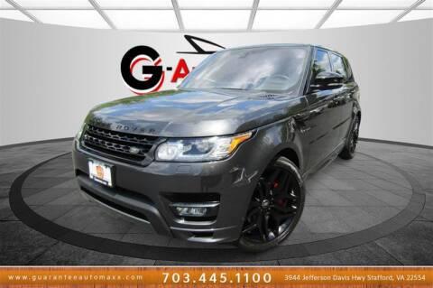 2017 Land Rover Range Rover Sport for sale at Guarantee Automaxx in Stafford VA