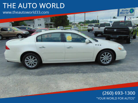 2011 Buick Lucerne for sale at THE AUTO WORLD in Churubusco IN