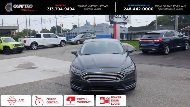 2017 Ford Fusion for sale at Quattro Motors 2 - 1 in Redford MI