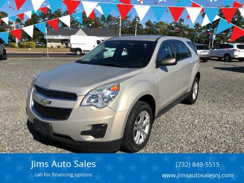 2012 Chevrolet Equinox for sale at Jims Auto Sales in Lakehurst NJ