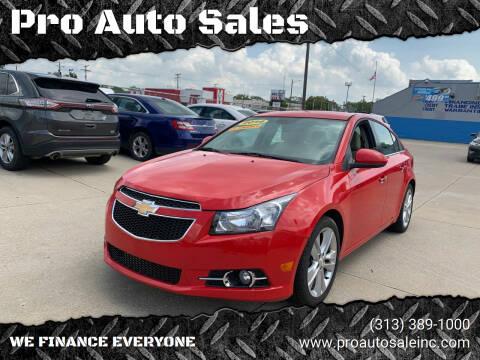 2014 Chevrolet Cruze for sale at Pro Auto Sales in Lincoln Park MI