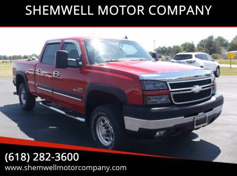 2006 Chevrolet Silverado 2500HD for sale at SHEMWELL MOTOR COMPANY in Red Bud IL