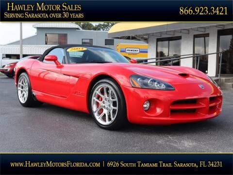 2004 Dodge Viper for sale at Hawley Motor Sales in Sarasota FL