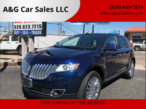 2011 Lincoln MKX for sale at A&G Car Sales  LLC in Tucson AZ