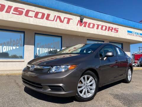 2012 Honda Civic for sale at Discount Motors in Pueblo CO