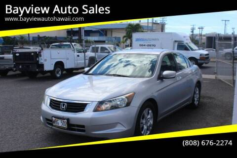 2009 Honda Accord for sale at Bayview Auto Sales in Waipahu HI