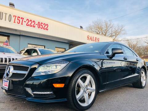 2012 Mercedes-Benz CLS for sale at Trimax Auto Group in Norfolk VA