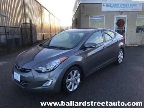 2013 Hyundai Elantra for sale at Ballard Street Auto in Saugus MA