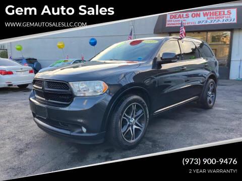 2011 Dodge Durango for sale at Gem Auto Sales in Irvington NJ