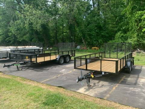 2021 New Wilson Manufacturing 7x16 Mesh High Side Trailer for sale at Tripp Auto & Cycle Sales Inc in Grimesland NC
