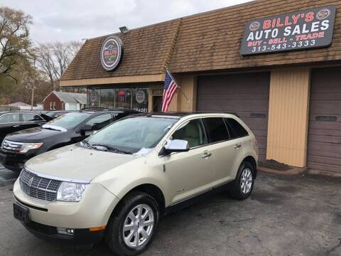 2010 Lincoln MKX for sale at Billy Auto Sales in Redford MI