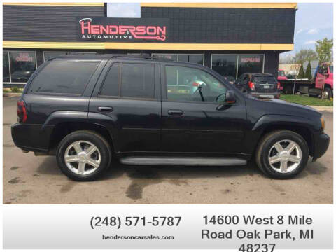 2008 Chevrolet TrailBlazer for sale at Henderson Automotive, LLC in Oak Park MI