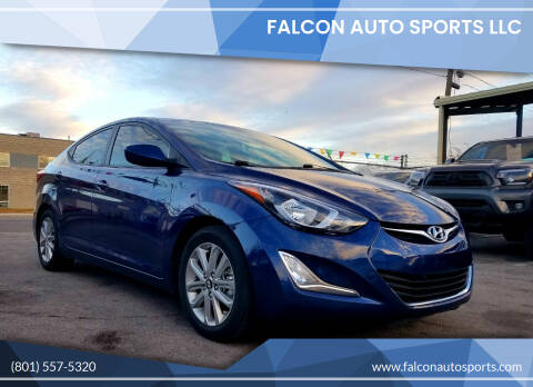 2016 Hyundai Elantra for sale at Falcon Auto Sports LLC in Murray UT