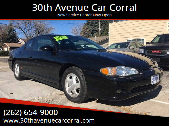 2004 Chevrolet Monte Carlo for sale at 30th Avenue Car Corral in Kenosha WI