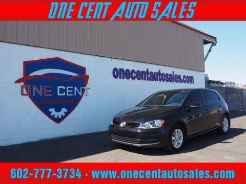 2015 Volkswagen Golf for sale at One Cent Auto Sales in Glendale AZ