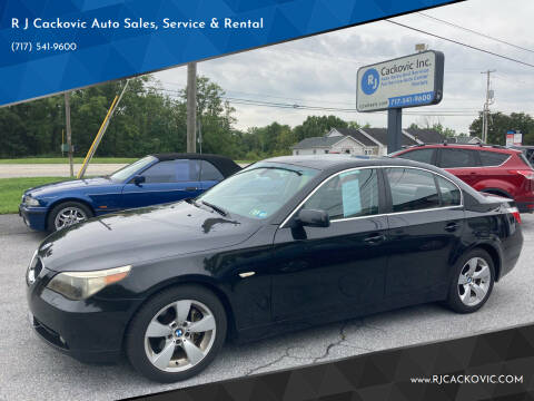 2006 BMW 5 Series for sale at R J Cackovic Auto Sales, Service & Rental in Harrisburg PA