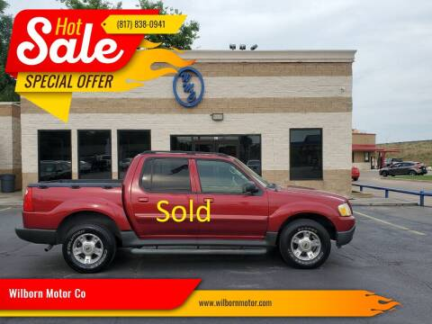 2004 Ford Explorer Sport Trac for sale at Wilborn Motor Co in Fort Worth TX