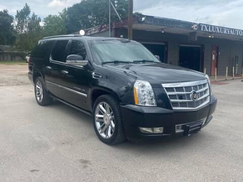2013 Cadillac Escalade ESV for sale at Texas Luxury Auto in Houston TX
