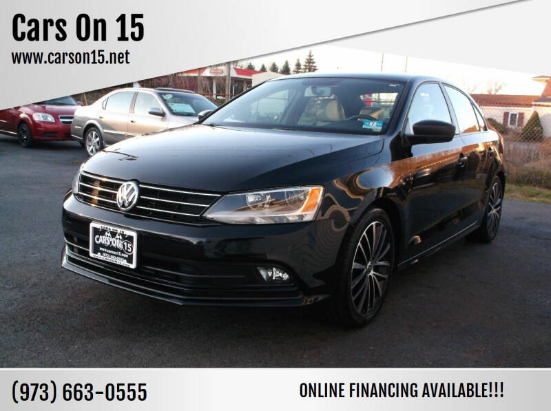 2015 Volkswagen Jetta for sale at Cars On 15 in Lake Hopatcong NJ