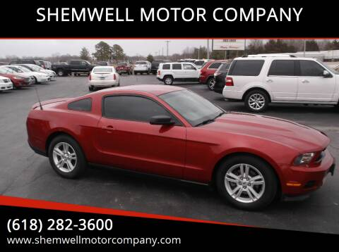 2011 Ford Mustang for sale at SHEMWELL MOTOR COMPANY in Red Bud IL
